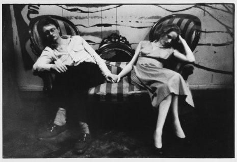 Ed van der Elsken, Remco Campert met Freddie, De Kring, Amsterdam, 1956