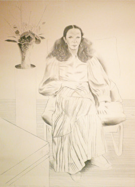 "<span class=""artist""><strong>David Hockney</strong></span>, <span class=""title""><em>Brooke Hopper</em>, 1976</span>"