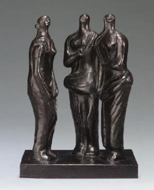 "<span class=""artist""><strong>Henry Moore</strong></span>, <span class=""title""><em>Three Standing Figures</em>, 1945</span>"