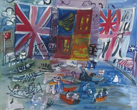 """<span class=""""artist""""><strong>Raoul Dufy</strong></span>, <span class=""""title""""><em>Régates à Henley</em>, c.1933</span>"""