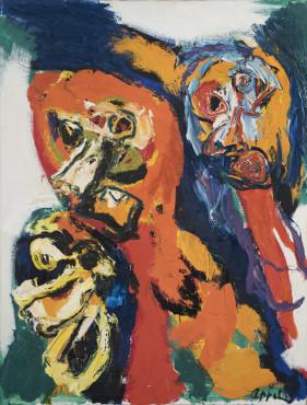 """<span class=""""artist""""><strong>Karel Appel</strong></span>, <span class=""""title""""><em>Evening Walk</em>, 1964</span>"""