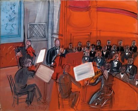 """<span class=""""artist""""><strong>Raoul Dufy</strong></span>, <span class=""""title""""><em>Le quintette rouge</em>, 1948</span>"""
