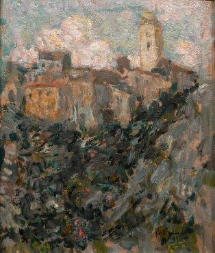 """<span class=""""artist""""><strong>Henri Le Sidaner</strong></span>, <span class=""""title""""><em>Le village, Dolceacqua</em>, 1911</span>"""