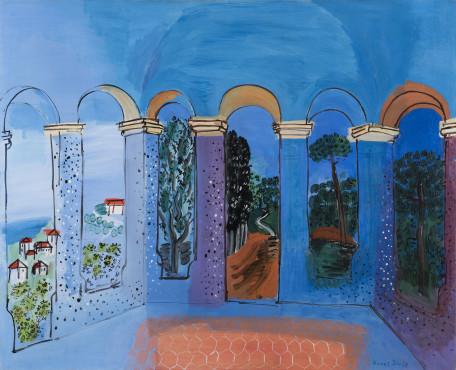 "<span class=""artist""><strong>Raoul Dufy</strong></span>, <span class=""title""><em>La Terrasse à Vallauris</em>, 1927</span>"
