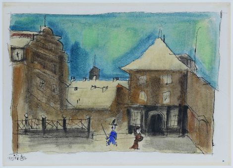 "<span class=""artist""><strong>Lyonel Feininger</strong></span>, <span class=""title""><em>The Village</em>, c.1921</span>"