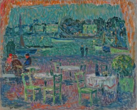 """<span class=""""artist""""><strong>Henri Le Sidaner</strong></span>, <span class=""""title""""><em>Le café du port</em>, 1923</span>"""