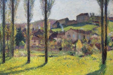 """<span class=""""artist""""><strong>Henri Martin</strong></span>, <span class=""""title""""><em>Labastide-du-Vert</em>, 1916</span>"""