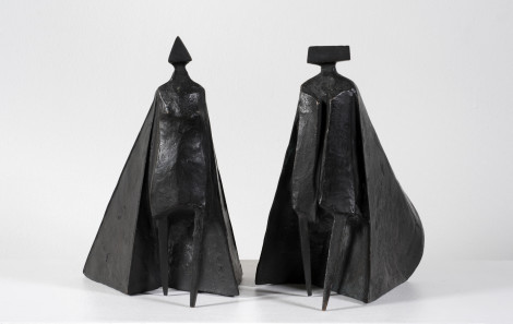"<span class=""artist""><strong>Lynn Chadwick</strong></span>, <span class=""title""><em>Walking Cloaked Figures VI</em>, 1980</span>"