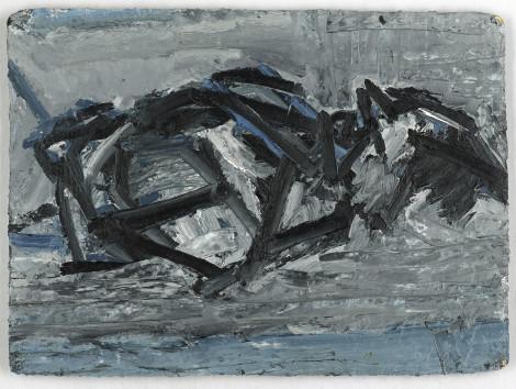 """<span class=""""artist""""><strong>Frank Auerbach</strong></span>, <span class=""""title""""><em>JYM Reclining</em>, 1971</span>"""