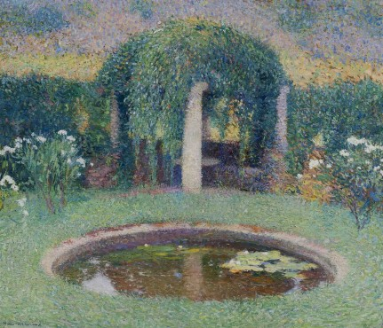 """<span class=""""artist""""><strong>Henri Martin</strong></span>, <span class=""""title""""><em>Marquayrol, le bassin de la tonnelle sud</em>, c.1920</span>"""