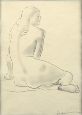 "<span class=""artist""><strong>Barbara Hepworth</strong></span>, <span class=""title""><em>Seated Nude</em>, 1947</span>"