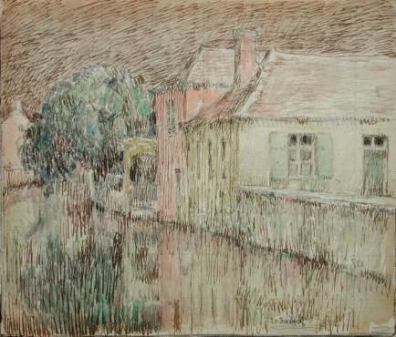 <span class=&#34;artist&#34;><strong>Henri Le Sidaner</strong></span>, <span class=&#34;title&#34;><em>Maison sur le canal, Nemours</em>, 1903</span>