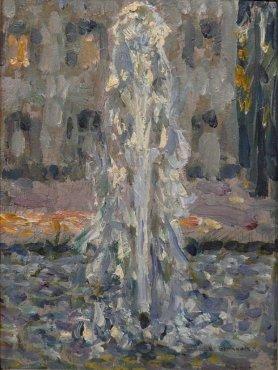 """<span class=""""artist""""><strong>Henri Le Sidaner</strong></span>, <span class=""""title""""><em>Le jet d'eau, Versailles</em>, 1937</span>"""