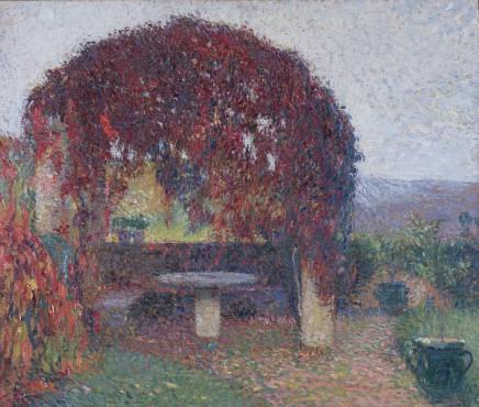 "<span class=""artist""><strong>Henri Martin</strong></span>, <span class=""title""><em>Pergola Nord-Ouest de Marquayrol en fin d'automne</em>, c.1910-1920</span>"