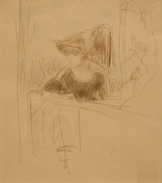 <span class=&#34;artist&#34;><strong>Jules Pascin</strong></span>, <span class=&#34;title&#34;><em>Girl at the bar</em>, 1918</span>
