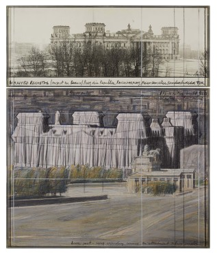 "<span class=""artist""><strong>Christo and Jeanne-Claude</strong></span>, <span class=""title""><em>Wrapped Reichstag</em>, 1985</span>"