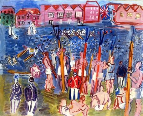 """<span class=""""artist""""><strong>Raoul Dufy</strong></span>, <span class=""""title""""><em>La régate à Henley</em>, 1930-35</span>"""