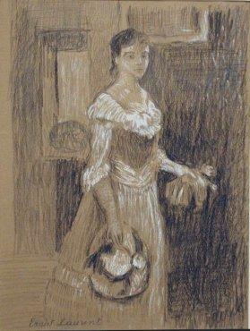<span class=&#34;artist&#34;><strong>Ernest Laurent</strong></span>, <span class=&#34;title&#34;><em>Jeune fille</em>, c. 1904</span>