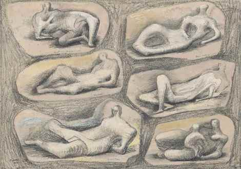<span class=&#34;artist&#34;><strong>Henry Moore</strong></span>, <span class=&#34;title&#34;><em>Reclining figures</em>, 1943</span>
