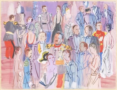 """<span class=""""artist""""><strong>Raoul Dufy</strong></span>, <span class=""""title""""><em>La réception à l'amirauté</em>, 1935</span>"""