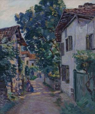 <span class=&#34;artist&#34;><strong>Jean Baptiste Armand Guillaumin</strong></span>, <span class=&#34;title&#34;><em>Une rue &#224; Epinay sur Orge</em>, c.1885</span>