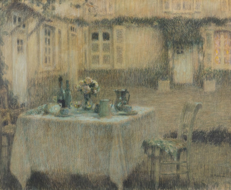 "<span class=""artist""><strong>Henri Le Sidaner</strong></span>, <span class=""title""><em>La Table, Gerberoy</em>, 1910</span>"