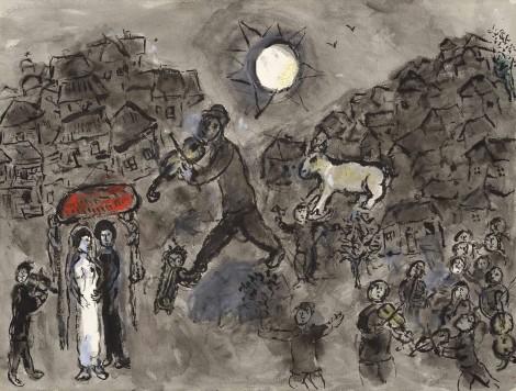 <span class=&#34;artist&#34;><strong>Marc Chagall</strong></span>, <span class=&#34;title&#34;><em>Le violiniste du mariage</em>, c.1975</span>