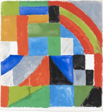 "<span class=""artist""><strong>Sonia Delaunay</strong></span>, <span class=""title""><em>Rythme couleur</em>, 1962</span>"