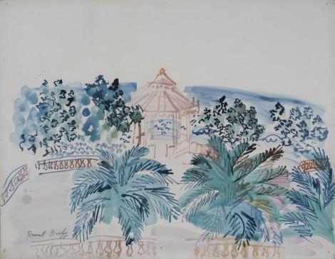 """<span class=""""artist""""><strong>Raoul Dufy</strong></span>, <span class=""""title""""><em>Terrasse et kiosque à musique</em>, c.1940</span>"""