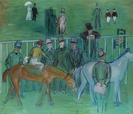 """<span class=""""artist""""><strong>Raoul Dufy</strong></span>, <span class=""""title""""><em>Scène de pesage</em>, 1949</span>"""