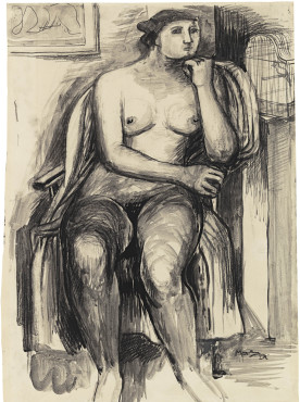 "<span class=""artist""><strong>Henry Moore</strong></span>, <span class=""title""><em>Seated Female Nude</em>, 1929</span>"