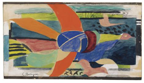 """<span class=""""artist""""><strong>Georges Braque</strong></span>, <span class=""""title""""><em>L'oiseau de feu</em>, c.1954</span>"""