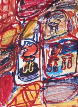"<span class=""artist""><strong>Jean Dubuffet</strong></span>, <span class=""title""><em>Site avec 4 personnages</em>, 20 September 1981</span>"