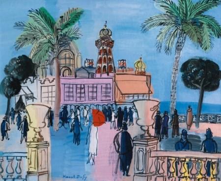 """<span class=""""artist""""><strong>Raoul Dufy</strong></span>, <span class=""""title""""><em>Le casino de Nice aux deux vasques</em>, c.1930</span>"""