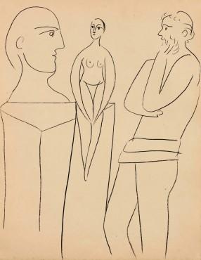 """<span class=""""artist""""><strong>Pablo Picasso</strong></span>, <span class=""""title""""><em>Le sculpteur et son modèle</em>, 27 November 1931</span>"""
