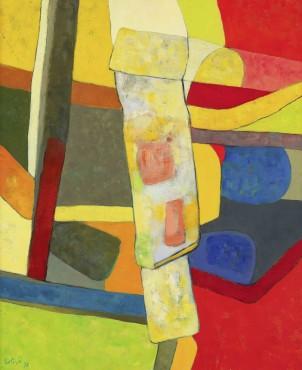 """<span class=""""artist""""><strong>Maurice Estève</strong></span>, <span class=""""title""""><em>Farfu charpentier</em>, 1978</span>"""