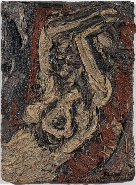 <span class=&#34;artist&#34;><strong>Leon Kossoff</strong></span>, <span class=&#34;title&#34;><em>Fidelma with Raised Arms</em>, 1981</span>