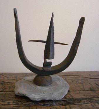 <span class=&#34;artist&#34;><strong>Geoffrey Clarke</strong></span>, <span class=&#34;title&#34;><em>Head</em>, c. 1951</span>