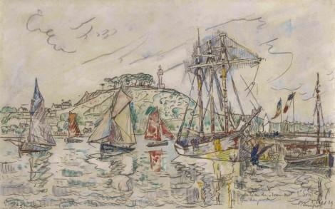 <span class=&#34;artist&#34;><strong>Paul Signac</strong></span>, <span class=&#34;title&#34;><em>Le Broc&#233;liande dans le Port de Paimpol</em>, 1st September 1929</span>