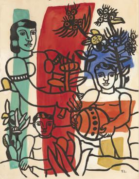 """<span class=""""artist""""><strong>Fernand Leger</strong></span>, <span class=""""title""""><em>Le Bonheur</em>, c.1953-4</span>"""
