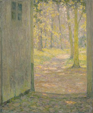 "<span class=""artist""><strong>Henri Le Sidaner</strong></span>, <span class=""title""><em>Petite porte de Trianon, Versailles</em>, 1926</span>"