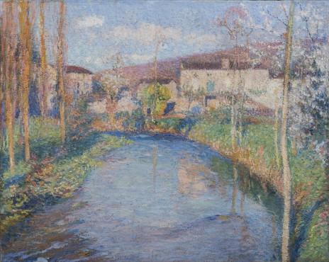 """<span class=""""artist""""><strong>Henri Martin</strong></span>, <span class=""""title""""><em>Le Vert à l'entrée de Labastide-du-Vert</em></span>"""