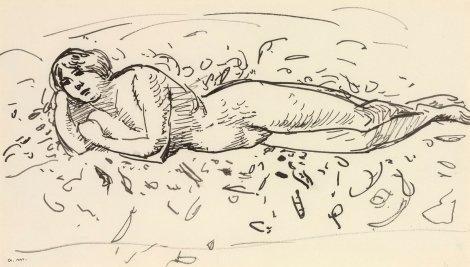 """<span class=""""artist""""><strong>Albert Marquet</strong></span>, <span class=""""title""""><em>Baigneuse allongée</em>, c.1912</span>"""