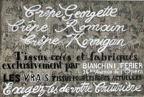 <span class=&#34;artist&#34;><strong>Raoul Dufy</strong></span>, <span class=&#34;title&#34;><em>Crêpe Georgette, Crêpe Romain, Crêpe Korrigan</em></span>