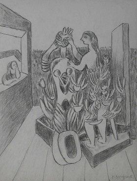 <span class=&#34;artist&#34;><strong>Jacob Bornfriend</strong></span>, <span class=&#34;title&#34;><em>Figures in garden</em></span>