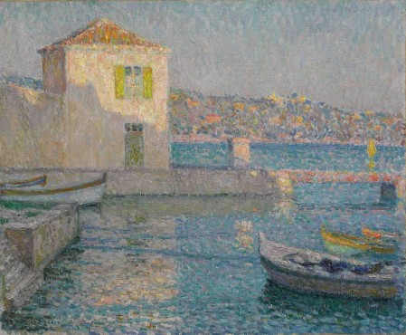 """<span class=""""artist""""><strong>Henri Le Sidaner</strong></span>, <span class=""""title""""><em>Maison près de la mer</em>, 1925</span>"""