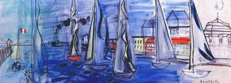 """<span class=""""artist""""><strong>Raoul Dufy</strong></span>, <span class=""""title""""><em>Régates à Deauville</em>, c.1945</span>"""