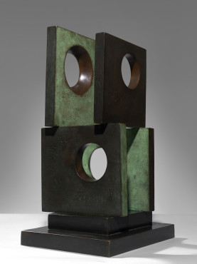 "<span class=""artist""><strong>Barbara Hepworth</strong></span>, <span class=""title""><em>Four-Square (Four Circles)</em>, 1966</span>"