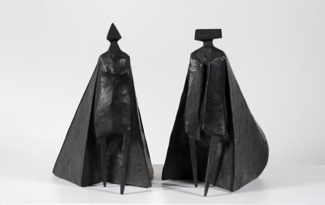 "<span class=""artist""><strong>Lynn Chadwick</strong></span>, <span class=""title""><em>Walking Cloaked Figures VI</em>, 1980</span>"