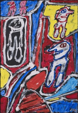 "<span class=""artist""><strong>Jean Dubuffet</strong></span>, <span class=""title""><em>Site avec 5 Personnages</em>, 25 February 1981</span>"